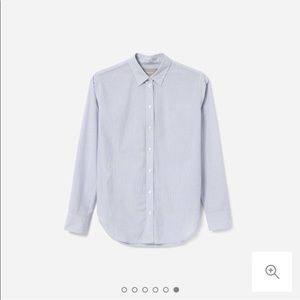 Everlane Blue Micro Stripe Button Down Shirt